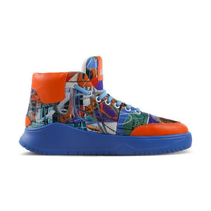 iPaint Graffiti Sneaker Blue Orange - Soulsfeng