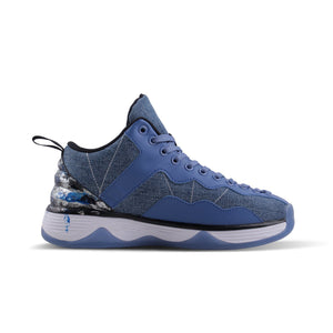 Men's Washed Denim Basketball Shoes - Soulsfeng