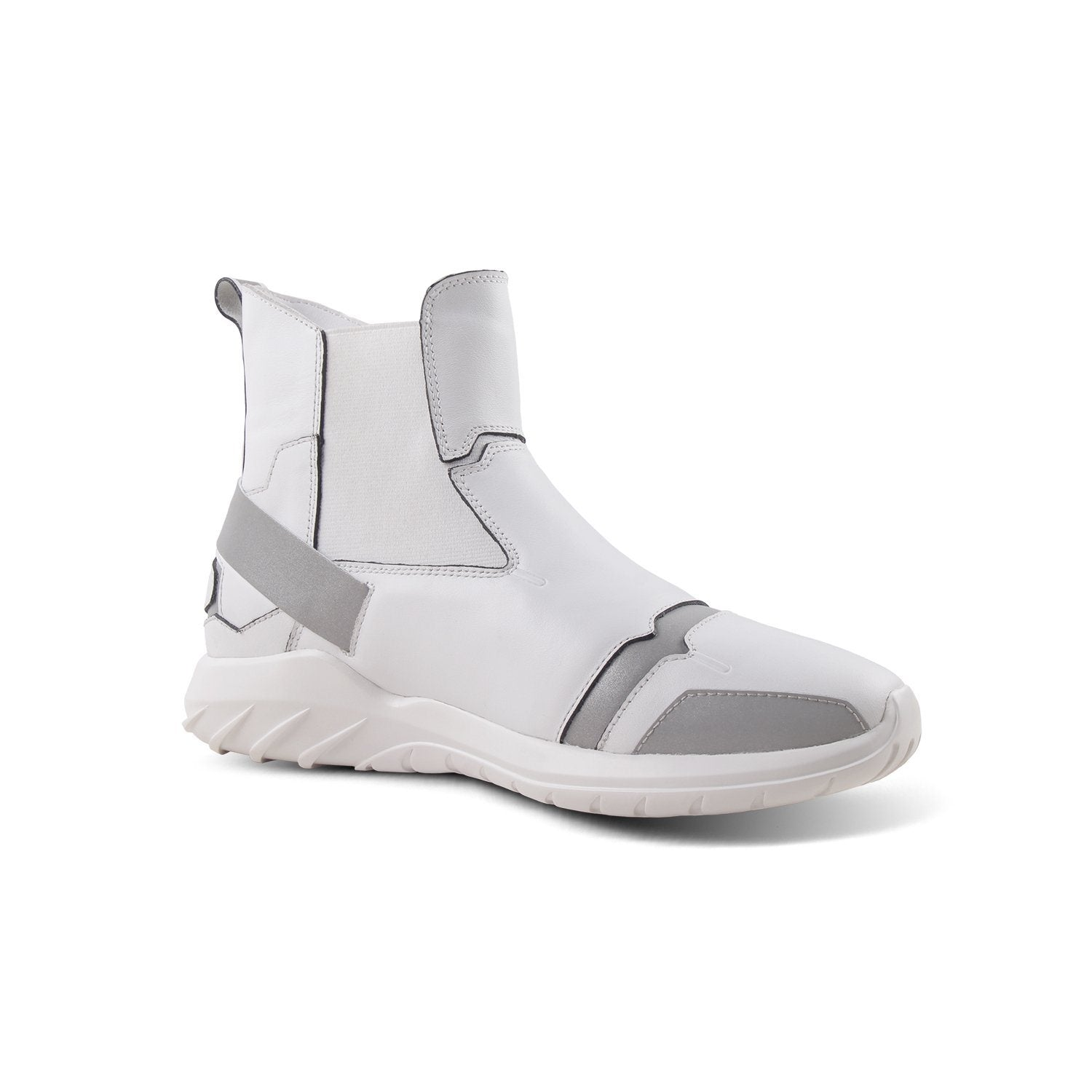 Laceless Sneaker One Step For Man High Tops White - Soulsfeng