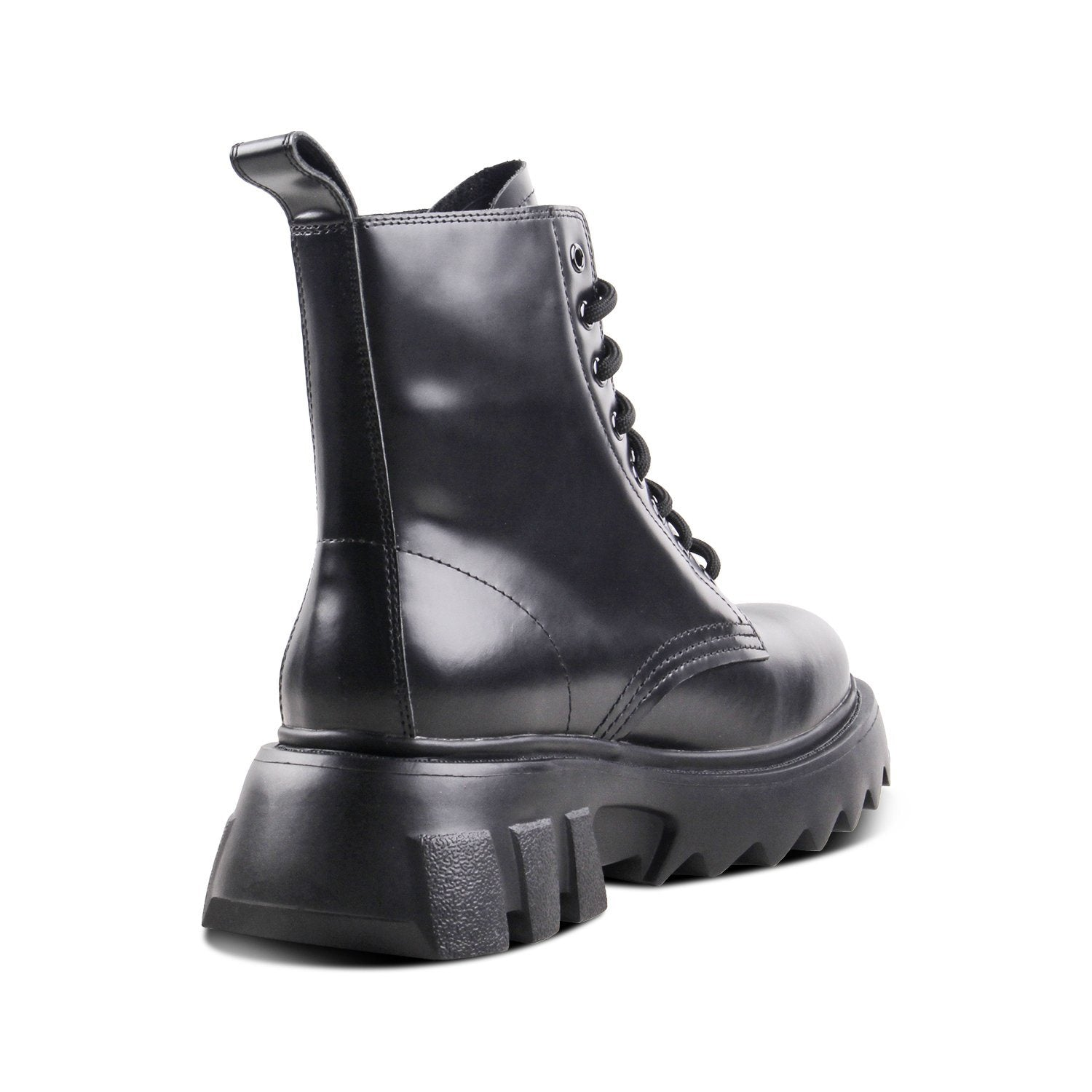Soulsfeng Women Leather Boots Black - Soulsfeng