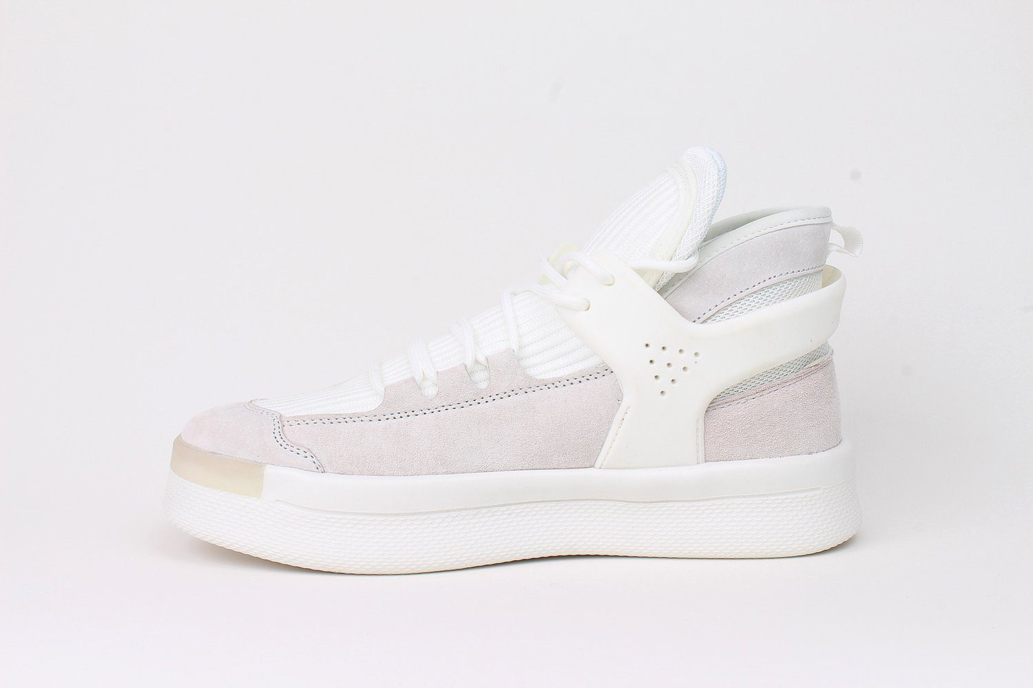 Middle Boots White Fabric Fashion Sneaker - Soulsfeng