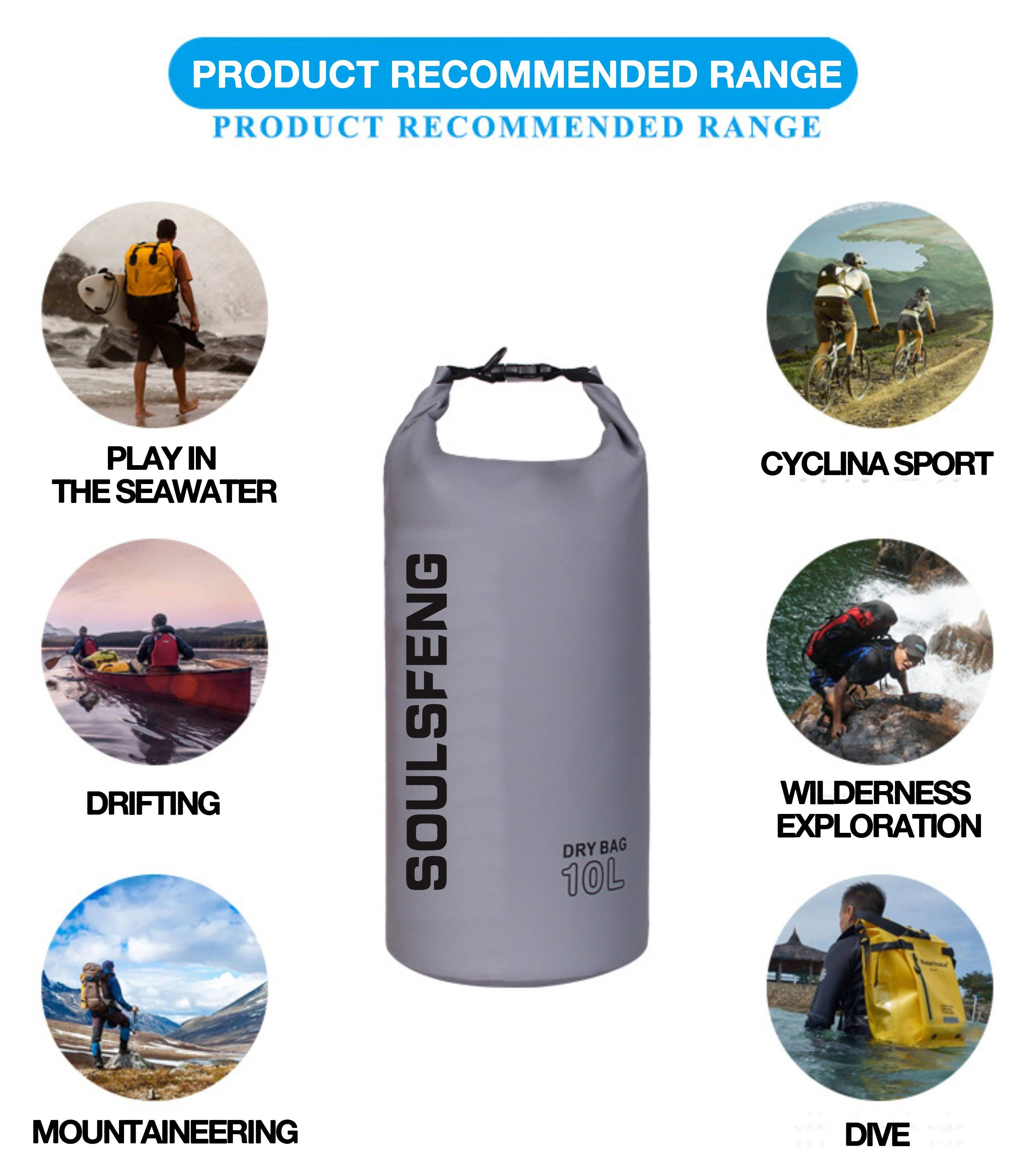 Floating Waterproof Marine Dry Bag 2L/3L/5L/10L/15L/20L - Soulsfeng