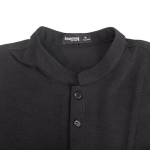 Flax-like leisure POLO Shirt - Soulsfeng