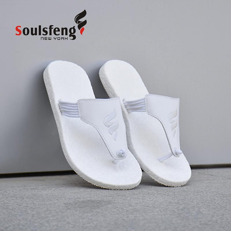 Solepad Leather Flip-Flops - Soulsfeng