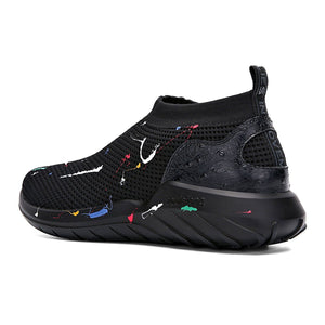 Mens Womens Black Running Shoe Lightweight Sneakers