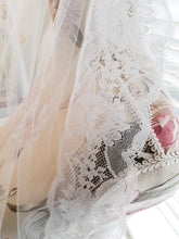 "Ladies 54"" waltz white 1 tier tulle lace Bridal Veil"
