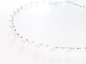 Ladies Ivory & Clear Swarovski Pearl and Crystal Bridal Crown