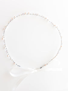 Ladies Swarovski Ivory Pearl, Pink and Clear Crystal Bridal Crown