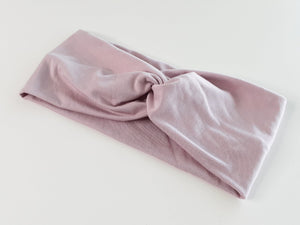 Lilac plain twist headband