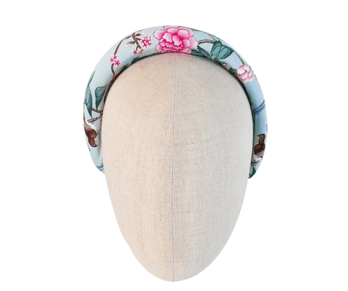 Ladies floral bird padded headband