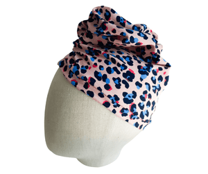 Pink Cheetah Ladies Turban Headwear