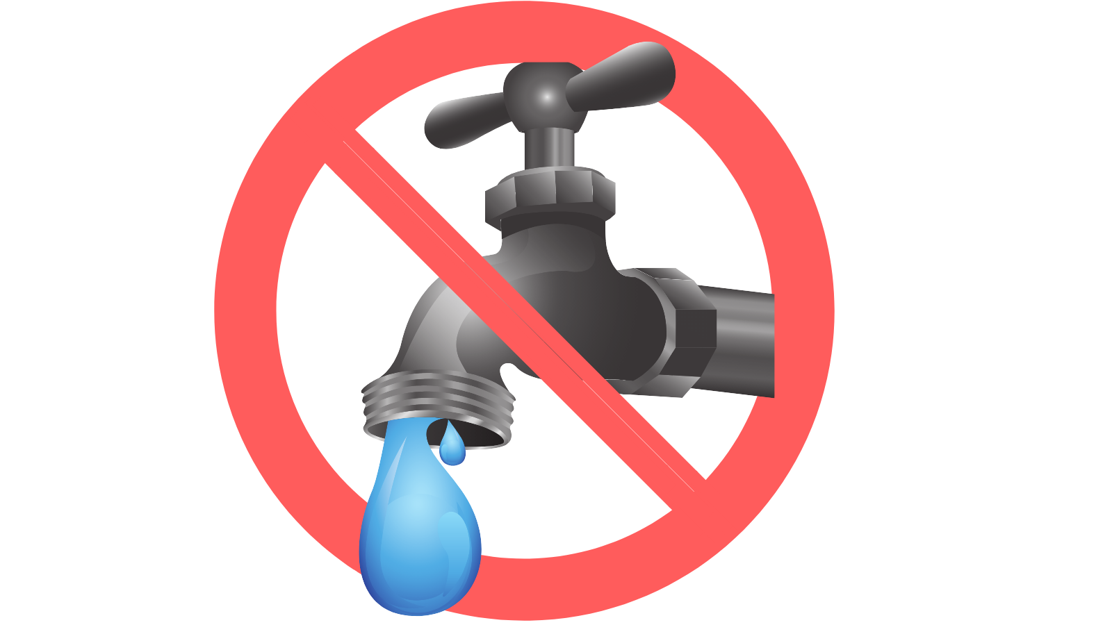 No tap water