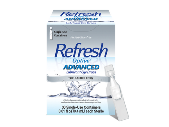 Refresh Optive Advanced (30 PF vials) - DryEyeShop