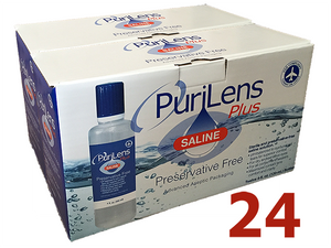 Load image into Gallery viewer, PuriLens Plus Saline 4oz (24-pack) - DryEyeShop
