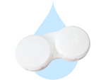 Contact lens case (basic white screw-top) - DryEyeShop