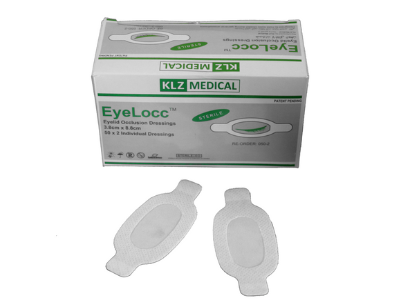 EyeLocc Eyelid Occlusion Dressing (Box of 50 pairs) - DryEyeShop