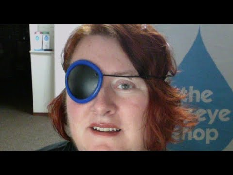 Load and play video in Gallery viewer, Plastic eye patch with silicone cushion
