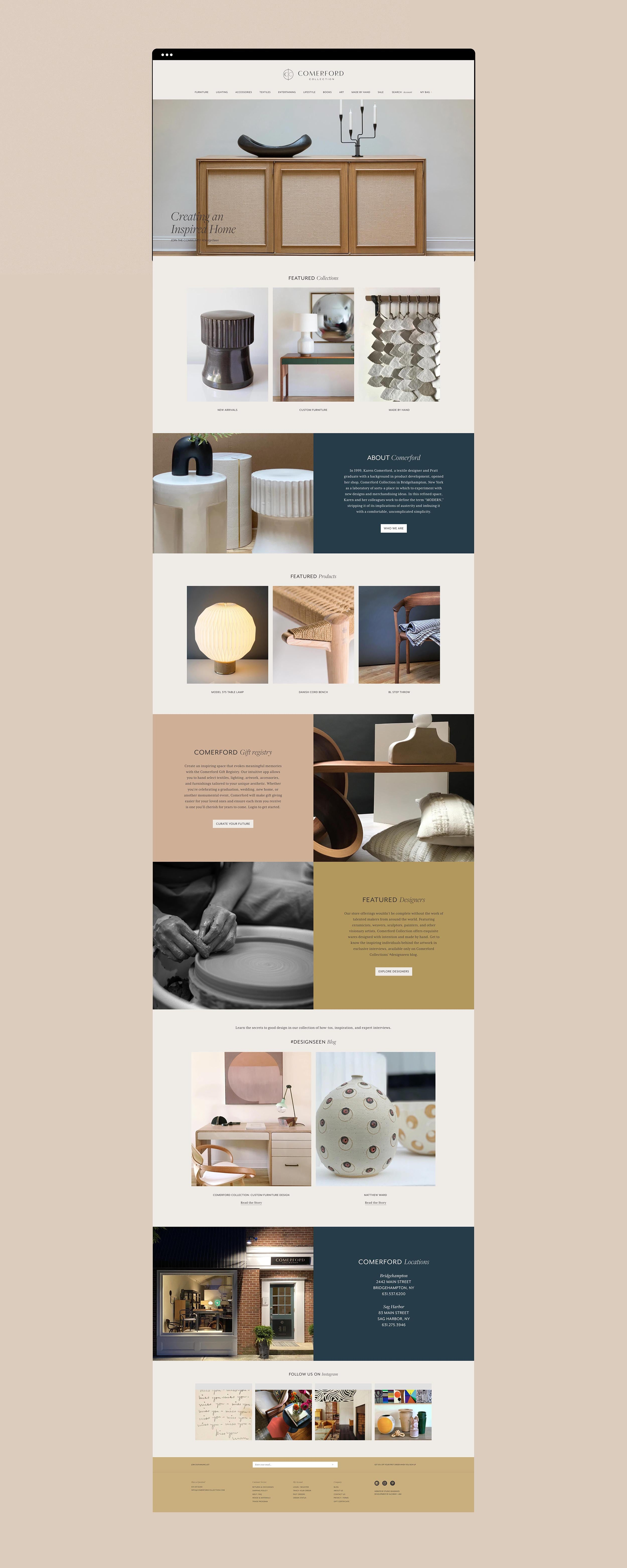 Comerford Collection Website and Branding by Studio Seagraves
