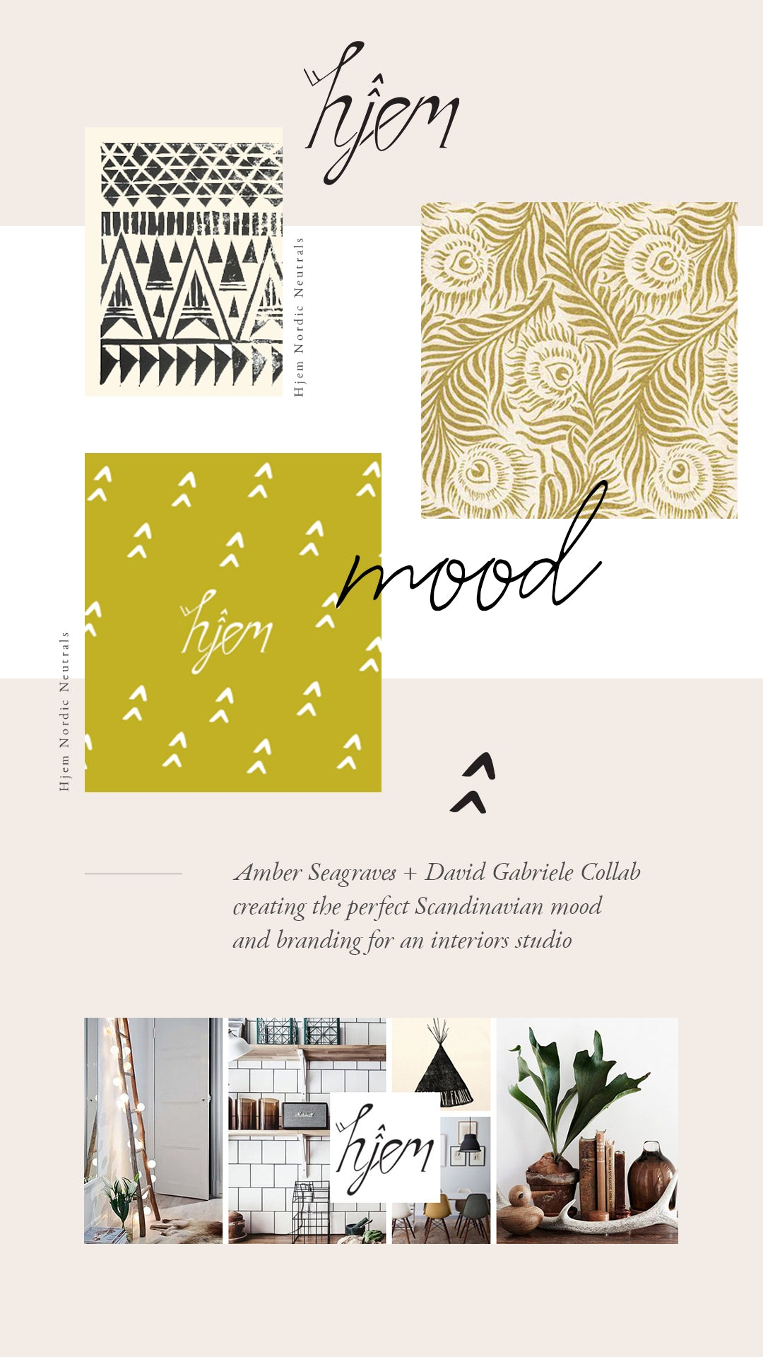 Hjem Design Brand Board by Amber Seagraves Design Studio Web Design Ecommerce Design Branding Design Logo Design Graphic Design Product Design Lifestyle Companies Creative Agency Los Angeles St. Louis Saint Louis