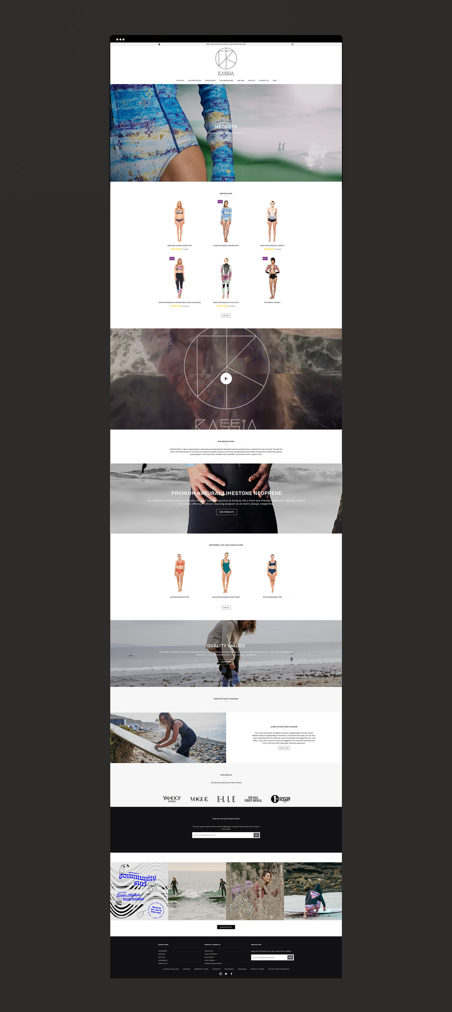Kassia Surf Shopify website by Studio Seagraves