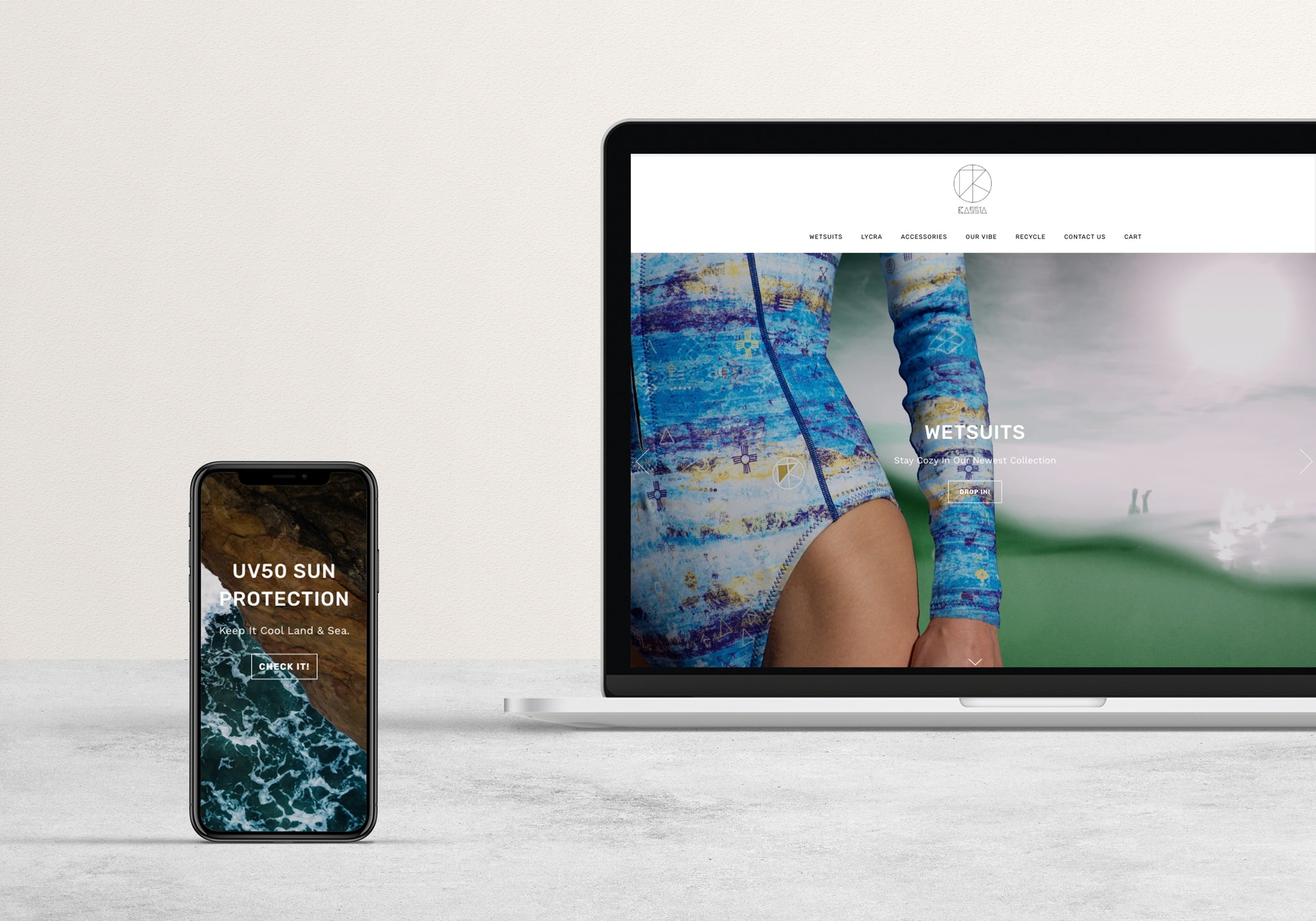 Kassia Surf E-commerce by Amber Seagraves