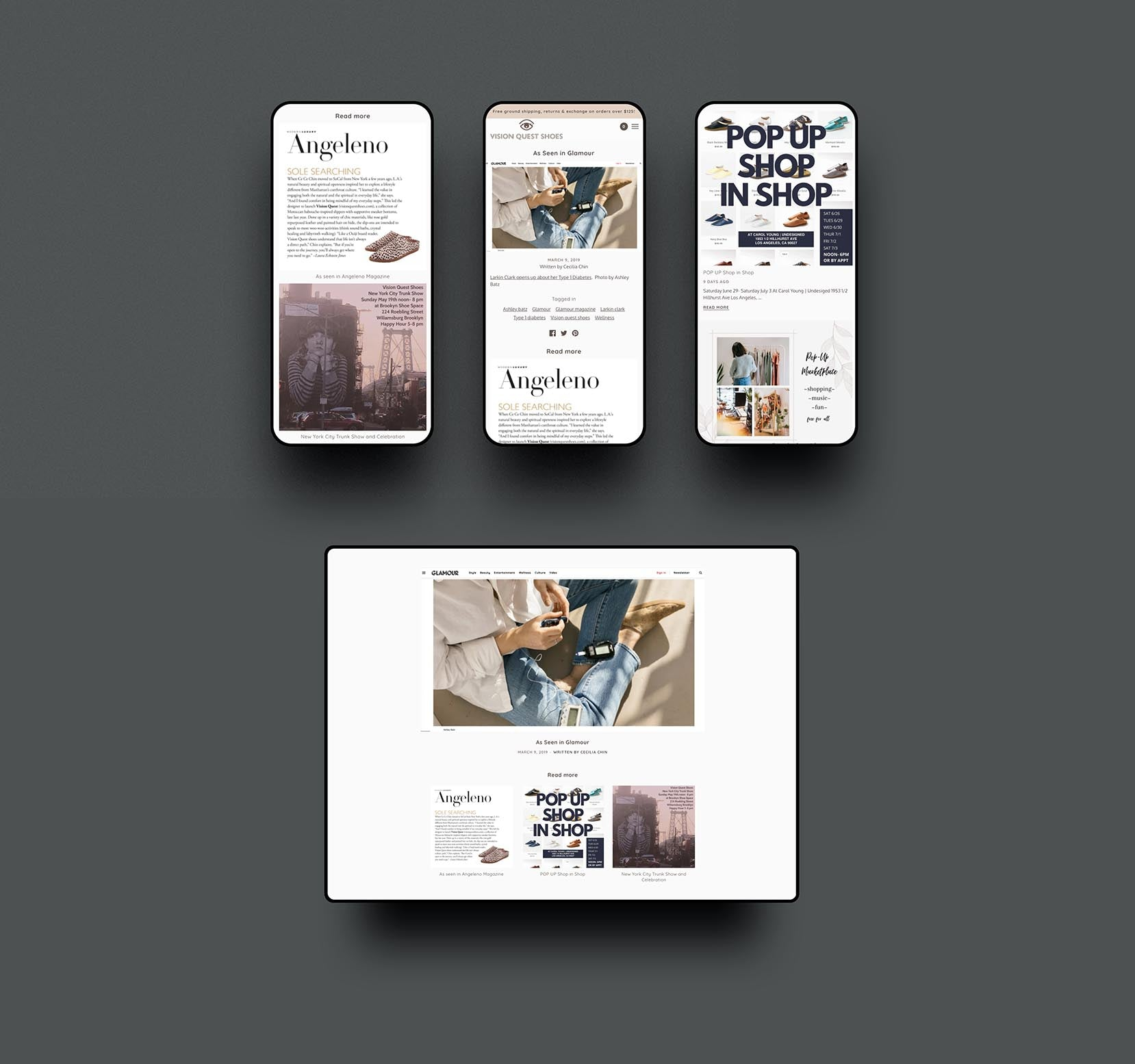 Vision Quest Shoes Shopify E-commerce by Studio Seagraves