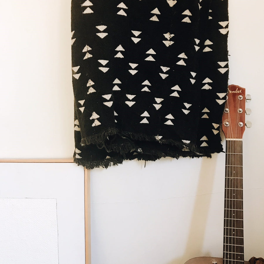 Black African Triangle Mud Cloth