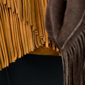 Imported Italian Suede Fringe Boho Bag by Amber Seagraves