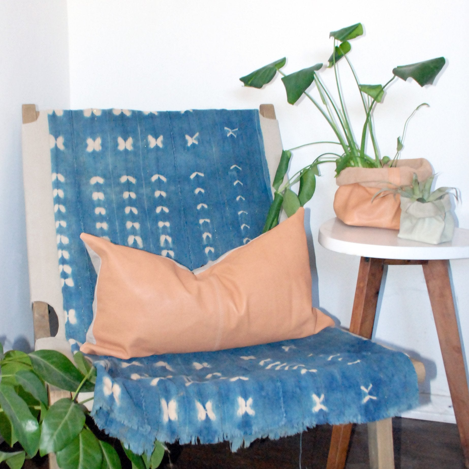 Solveig Leather Lumbar Pillow by Amber Seagraves