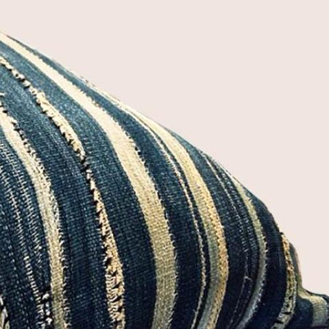 Steffa Striped Vintage African Pillow Cover by Amber Seagraves