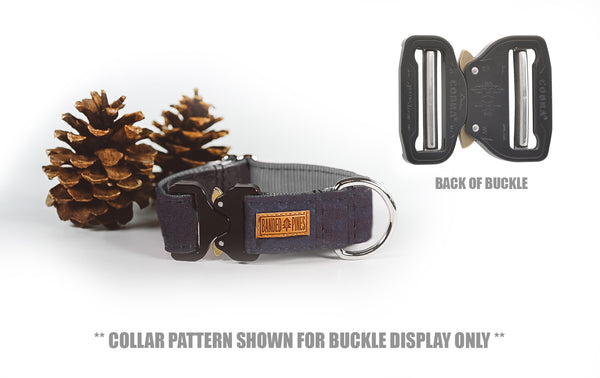 Navy Crush Dog Collar | Waterproof Durable