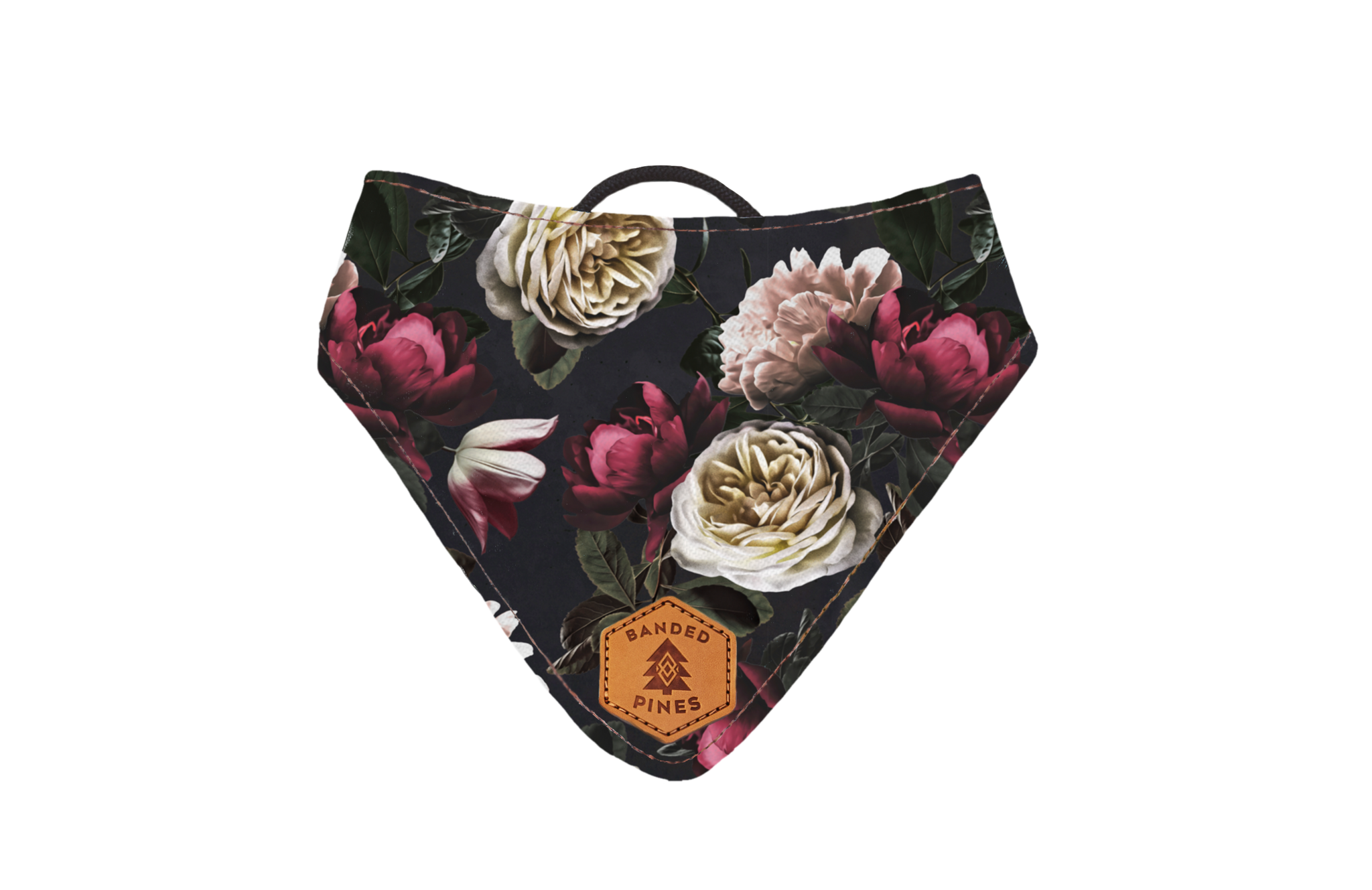 Black Dahlia Slip-On Dog Bandana | Water Resistant | Durable
