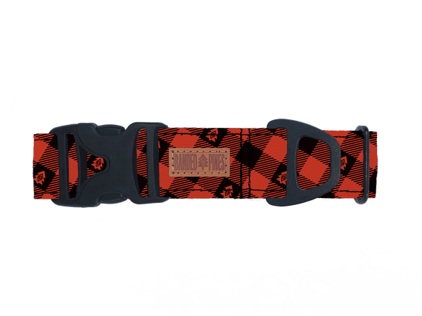 Buffalo Plaid Dog Collar | Water Resistant | Durable