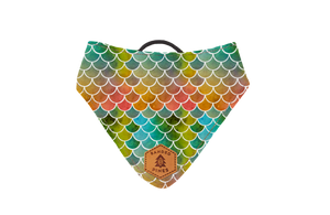 Marine Scales Slip-On Dog Bandana | Water Resistant | Durable