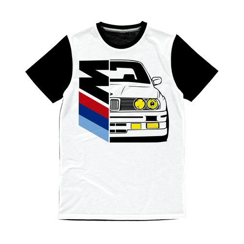 Bmw e30 Half Msport Classic Sublimation Panel T-Shirt