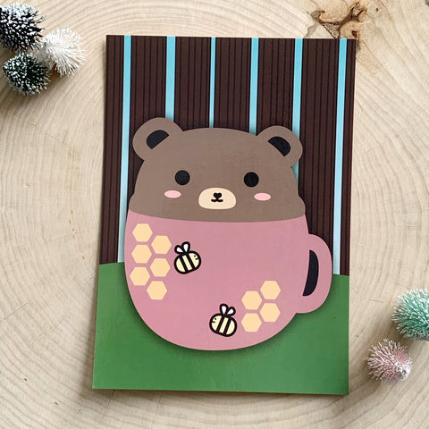Honeybear Latte Print