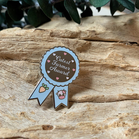 Cutest Farmer Award Enamel Pin