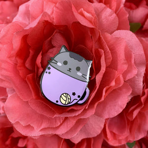 Cuddly Kitty in Mug Enamel Pin