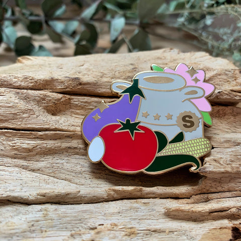 Produce Enamel Pin