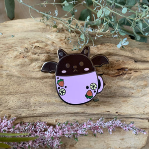 Berry Bat in Mug Enamel Pin