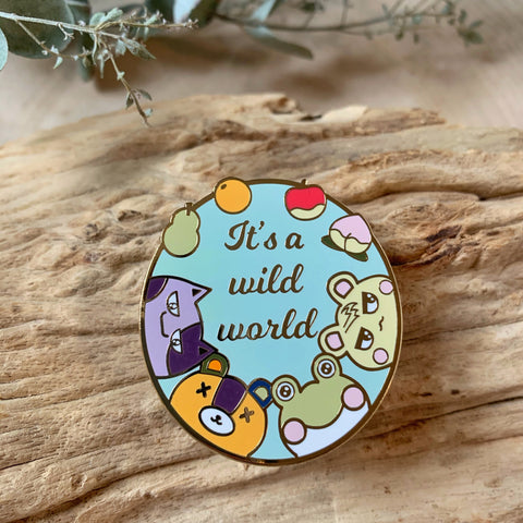 Wild World Enamel Pin