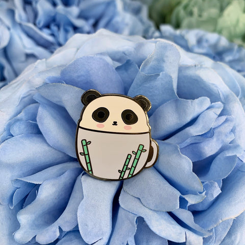 Panda Pal in Mug Enamel Pin