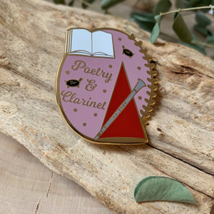Poetry & Clarinet Enamel Pin
