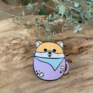 Happy Doggo in Mug Enamel Pin
