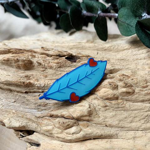 Blue Feather Enamel Pin