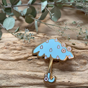 Rainy Umbrella Enamel Pin