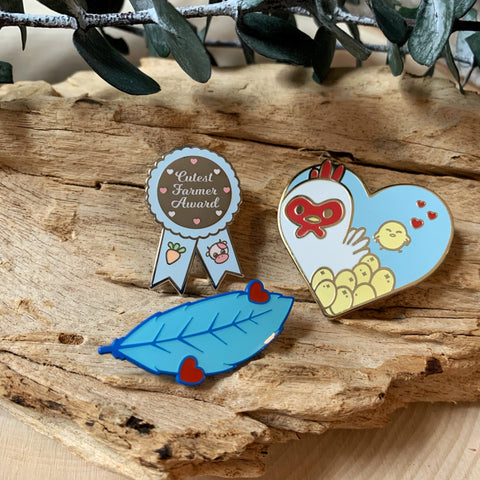 Cute Farming Enamel Pin Bundle