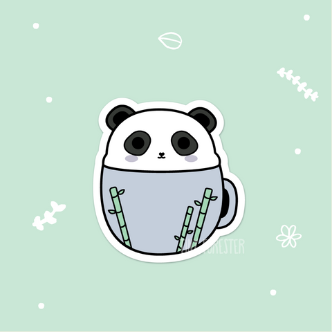 Panda Pal in a Mug Sticker
