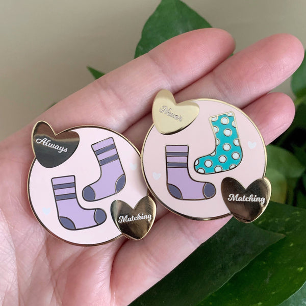 Great Sock Debate Enamel Pins