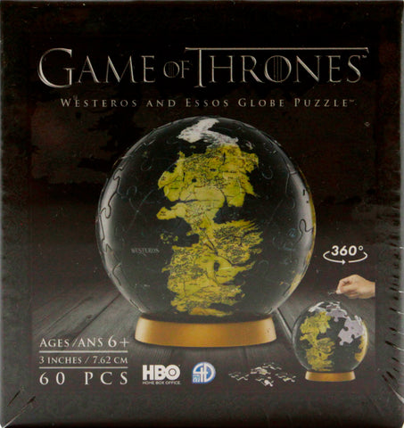4D GAME OF THRONES GLOBE 3 INCH